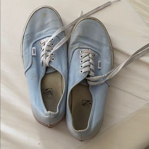 Blue and white vans